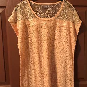 Chico's Cotton/Lace Top.